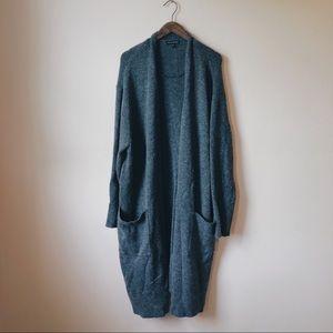 Banana Republic Slouchy Cardigan Sweater 1X Gray